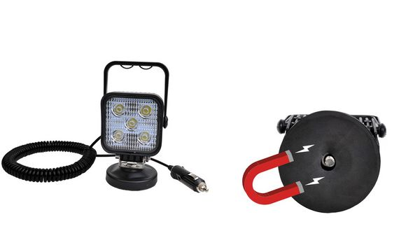 IWH LED-Arbeitsscheinwerfer mit Magnetfuss, 5 LEDs à 3 W