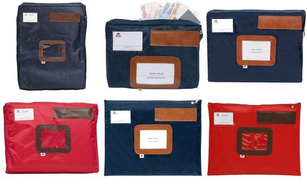 ALBA Banktasche POCAIS mit Dehnfalte, aus Nylon, blau