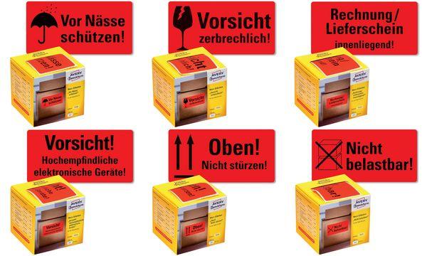 AVERY Zweckform Etikettenrolle Oben! Nicht stürzen!