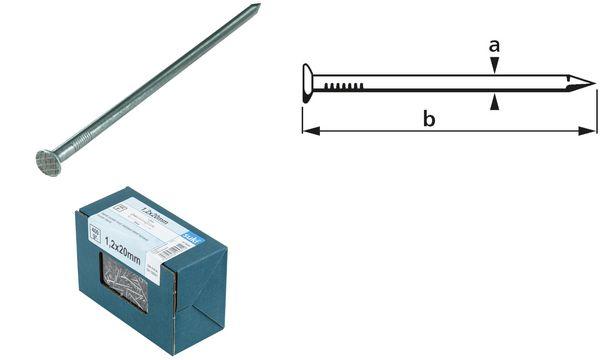 suki. Drahtstift, Senkkopf, 2,2 x 50 mm, verzinkt, 400 g