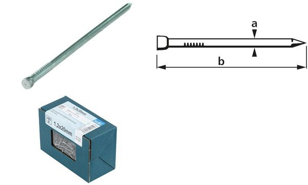 suki. Drahtstift, Stauchkopf, 1,4 x 25 mm, blank, 400 g