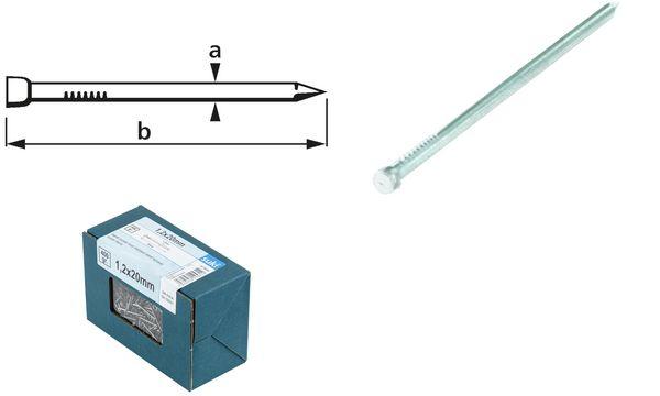 suki. Drahtstift, Stauchkopf, 1,6 x 30 mm, verzinkt, 400 g