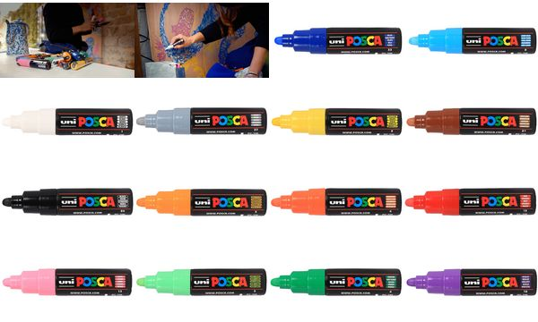 POSCA Pigmentmarker PC-7M, grau