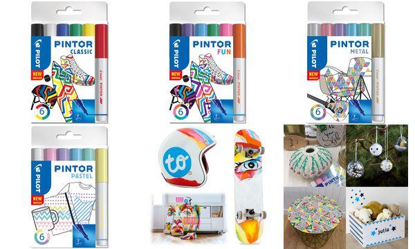 PILOT Pigmentmarker PINTOR, fein, 6er Set PASTEL MIX
