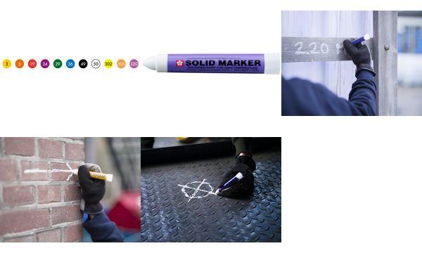 Sakura Industriemarker Solid Marker, gelb