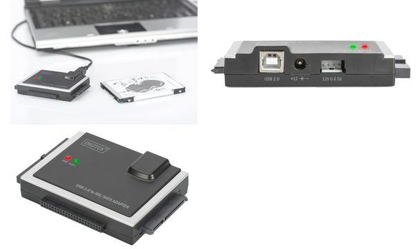 DIGITUS USB 2.0 - 40pol IDE & SATA Festplattenadapter