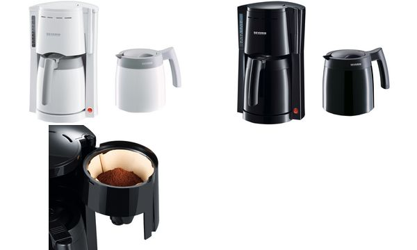 SEVERIN Kaffeemaschine KA 9234, mit 2 Thermokannen, schwarz