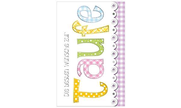 SUSY CARD Taufkarte für Geldschein Patchworkstil