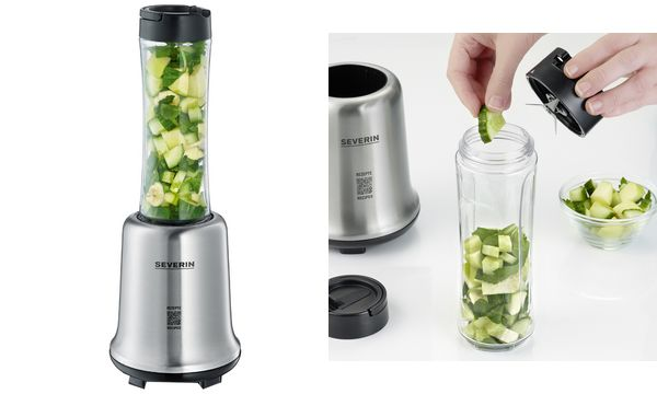 SEVERIN Smoothie-Maker Smoothie Mix & Go SM 3739, Edelstahl