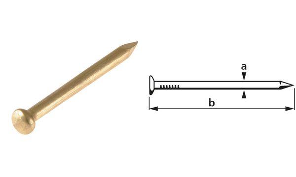 suki. Rundkopfstift, 1,6 x 18 mm, 50 g