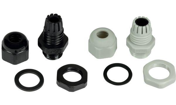 LogiLink Kabelverschraubung M12, IP68, schwarz (RAL9005)