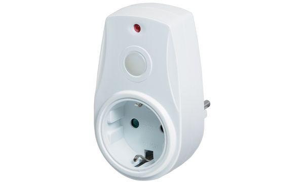 LogiLink Adapterstecker mit Dämmungssensor, weiß