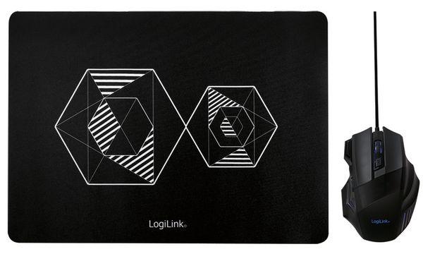 LogiLink Gaming Combo Set, bestehend aus Maus & Maus Pad