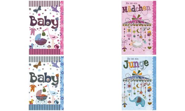 SUSY CARD Geburtskarte Sweet sunshine Mobile, blau
