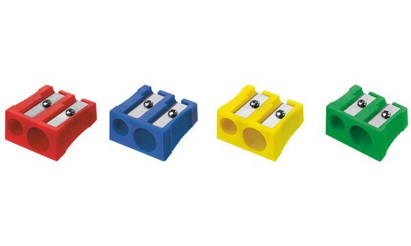 WESTCOTT Doppel-Spitzer, aus Kunststoff, 4 Farben sortiert
