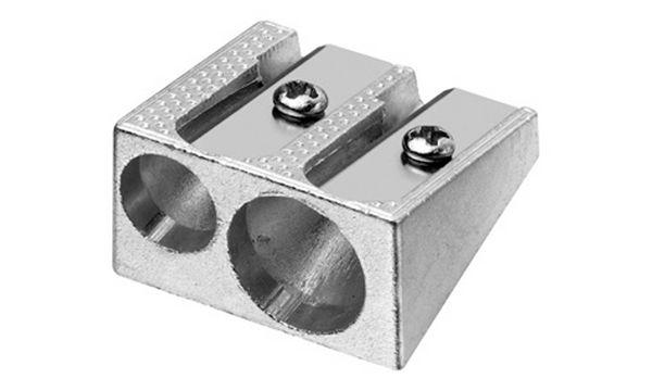 WESTCOTT Doppel-Spitzer, aus Metall, Keilform, silber