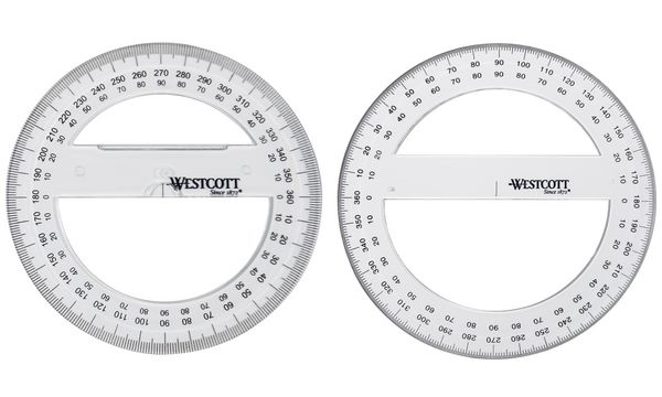 WESTCOTT Winkelmesser Vollkreis 360 Grad, 150 mm