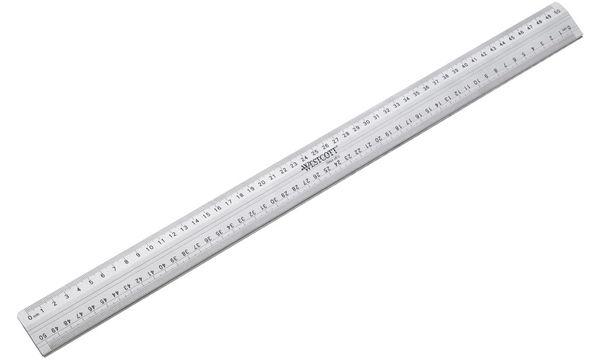 WESTCOTT Schneidelineal, Länge: 500 mm, aus Aluminium