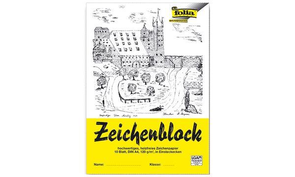 folia Zeichenblock, DIN A3, 120 g/qm, 10 Blatt