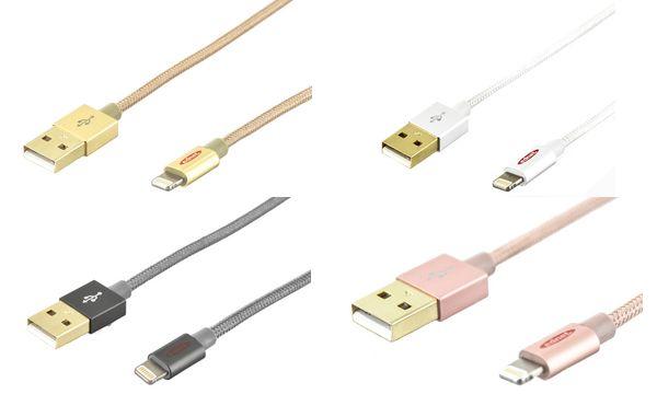 ednet Daten- & Ladekabel, Apple Lightning - USB-A Stecker
