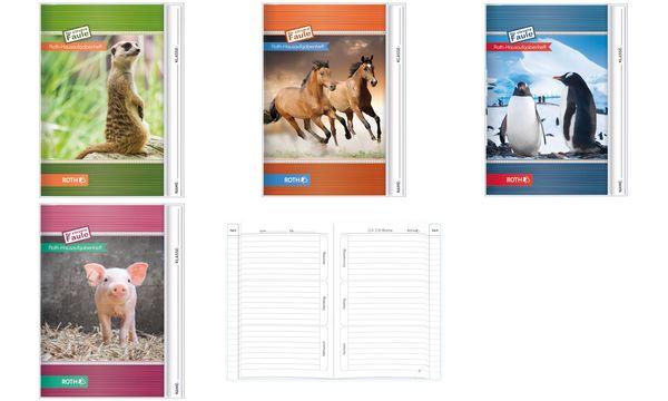 ROTH Hausaufgabenheft Tiere Schwein, DIN A5