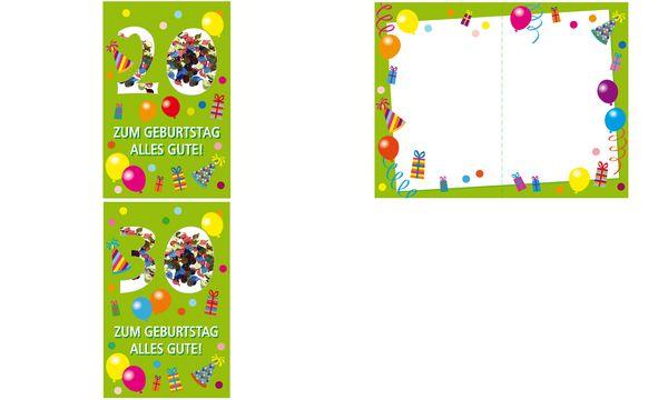 SUSY CARD Geburtstagskarte Konfetti 20. Geburtstag