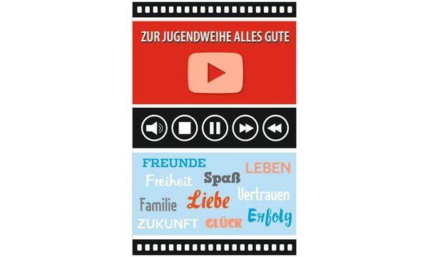 SUSY CARD Jugendweihe-Grußkarte Play