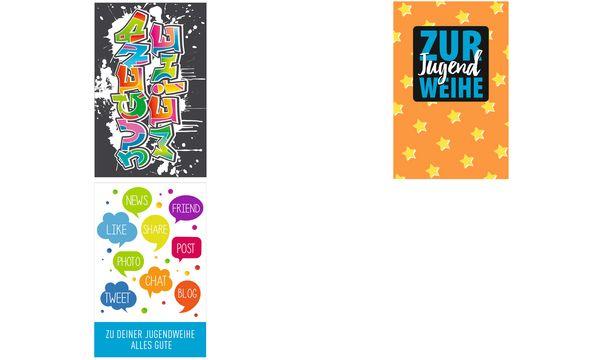 SUSY CARD Jugendweihe-Grußkarte Geldschein Neon