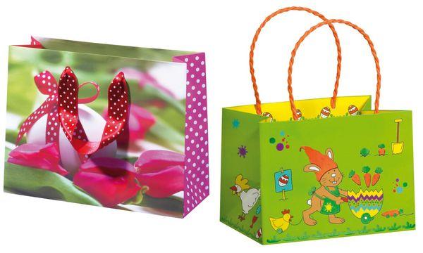 SUSY CARD Oster-Geschenktüte Gardening Rabbit, klein
