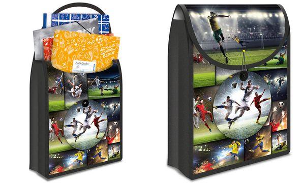 HERMA Schulbox FlexiBag Football, aus PP, Fußballmotiv