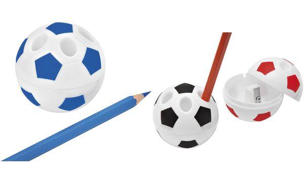 WEDO Spitzdose FUSSBALL mit Stiftehalter, farbig sortiert