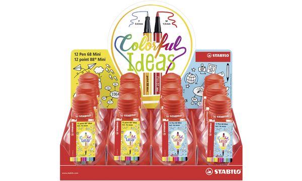 STABILO point 88 Mini / Pen 68 Mini, Display Colorful Ideas