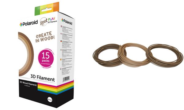 Polaroid Holz-Filament Root Play 3D Pen, 3 Farben sort...
