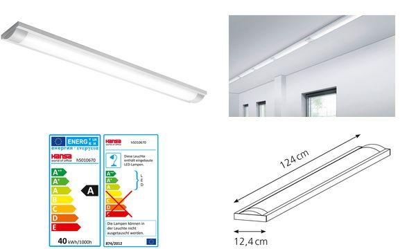 Hansa LED-Deckenleuchte 40-124, lichtgrau