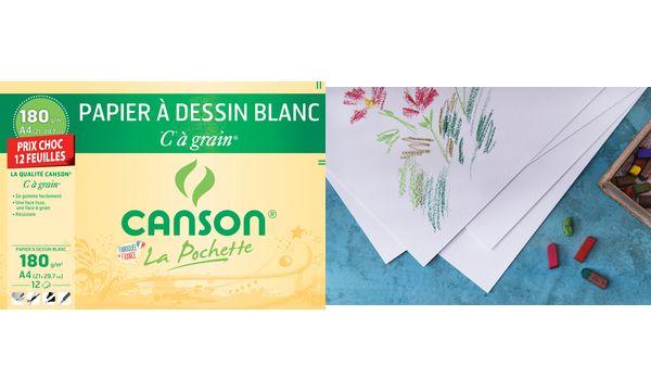 CANSON Zeichenpapier C à grain, DIN A4, Aktionpreis