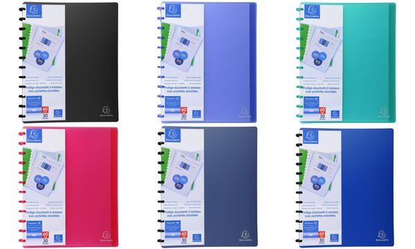 EXACOMPTA Sichtbuch DIN A4, 30 Hüllen, blau-transluzent