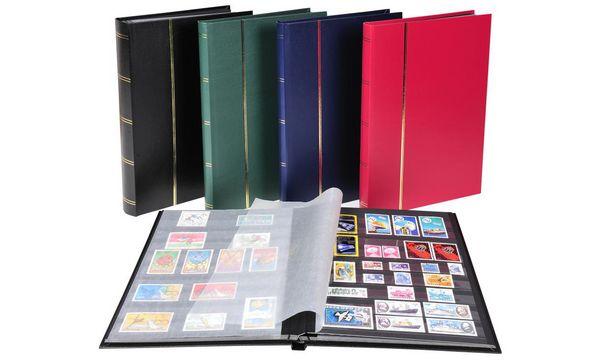 EXACOMPTA Briefmarkenalbum, 225 x 305 mm, schwarz, 16 Se...