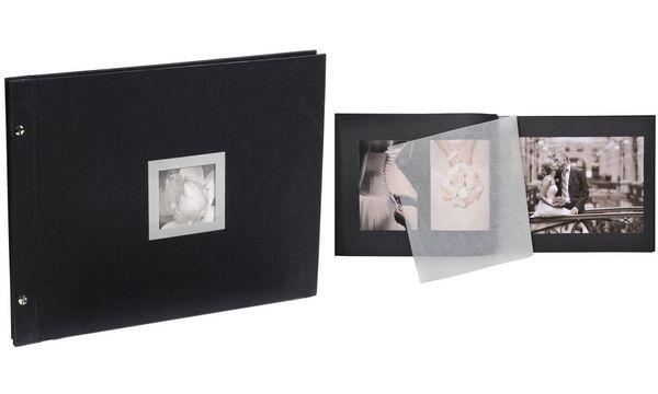 EXACOMPTA Schraubalbum Ceremony, 370 x 290 mm, schwarz