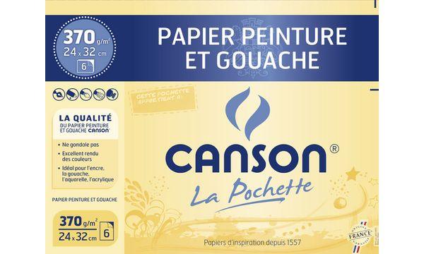 Canson Zeichenpapier Gouache & Malerei, 320 x 240 mm