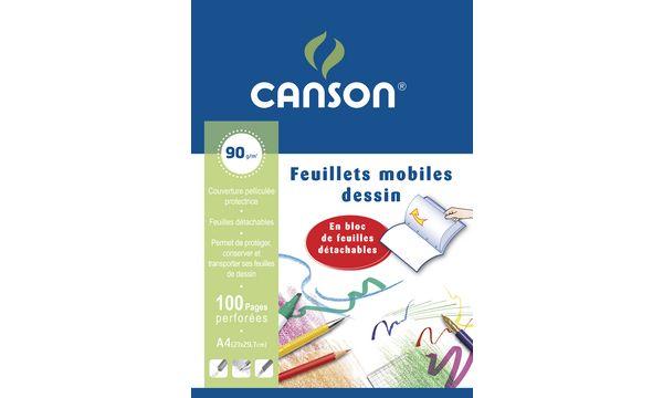 CANSON Zeichenpapier-Block, 210 x 297 mm, weiß, 90 g/qm