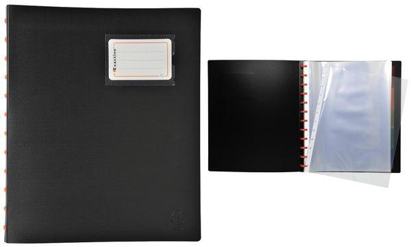 EXACOMPTA Sichtbuch EXACTIVE, DIN A4, 30 Hüllen, schwarz