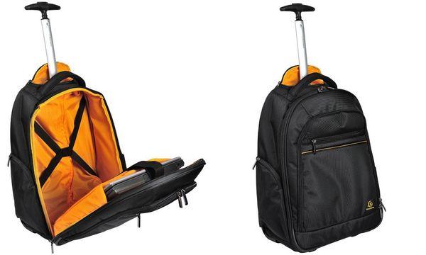 EXACOMPTA Rucksack-Trolley EXABUSINESS, Polyester, schwarz