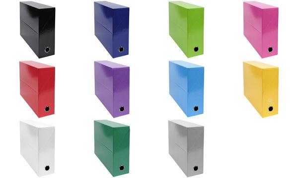 EXACOMPTA Archivbox Iderama, Karton, 90 mm, violett