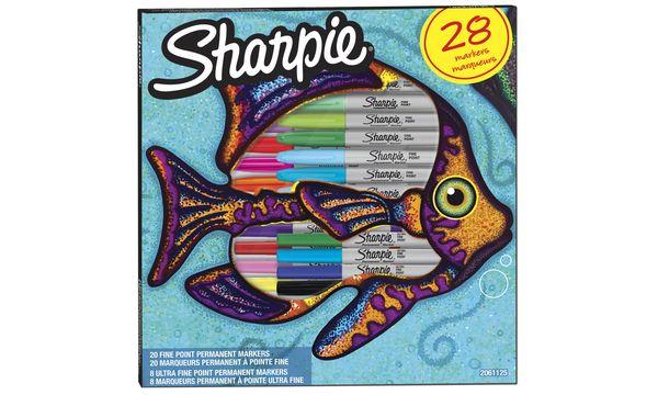 Sharpie Permanent-Marker FINE, 28er BIG PACK Fisch
