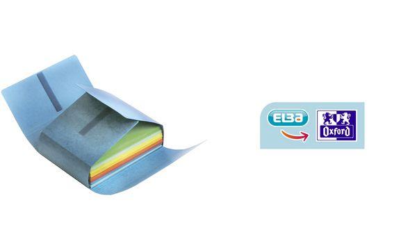 ELBA Dokumentenmappe JUMBO, mit Klettverschluss, blau