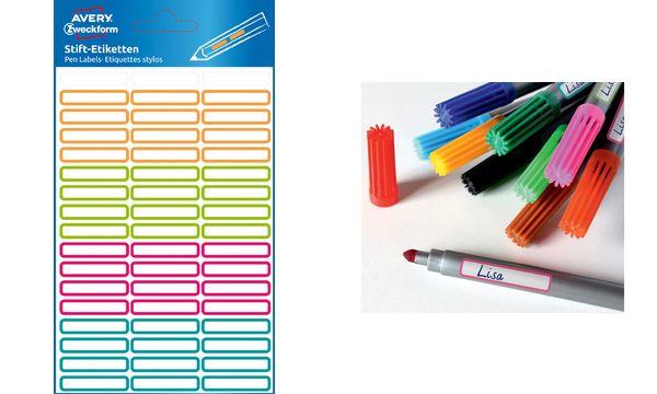 AVERY Zweckform Stift-Etiketten, 31 x 6 mm, farbig sortiert