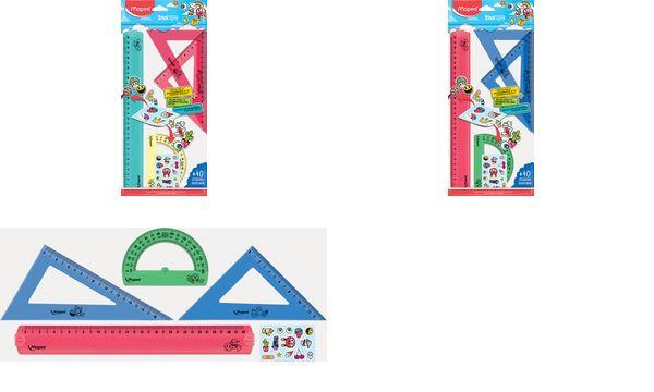 Maped Geometrie-Set Stickart, 4-teilig, farbig sortiert