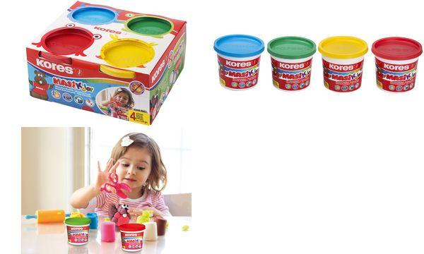 Kores Spielknete-Set MASI KOLOR, 4 Farben à 130 g
