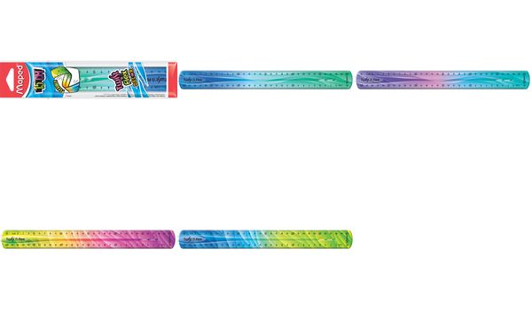 Maped Flachlineal Twistn Flex DECOR, 200 mm, unzerbrech...