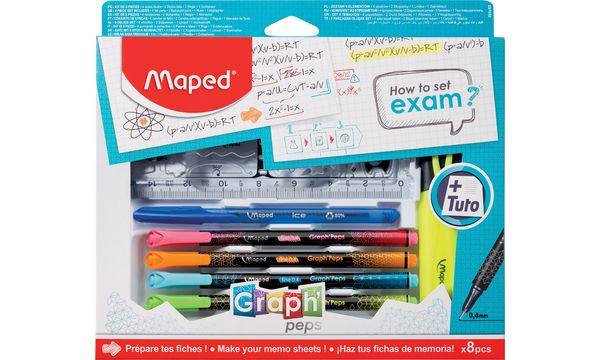 Maped Zeichenset GraphPeps How to set exam, 8-teilig